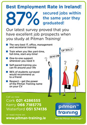 Let Pitman Training Waterford help secure your new career